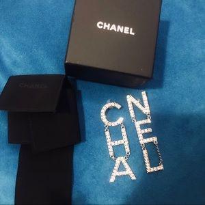 Chanel XL logo earrings